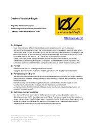 Offshore-Yardstick-Regeln http://www.voev.at