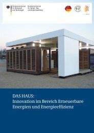 DAS HAUS - Exportinitiative Erneuerbare Energien - BMWi