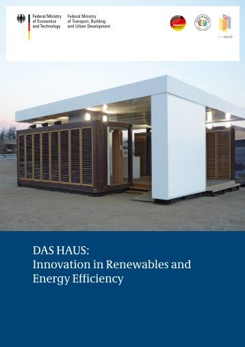 DAS HAUS: Innovation in Renewables and Energy Efficiency - BMWi