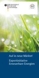 PDF: 3,4 MB - Exportinitiative Erneuerbare Energien - BMWi