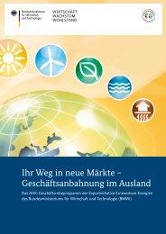 PDF: 304,7 KB - Exportinitiative Erneuerbare Energien - BMWi