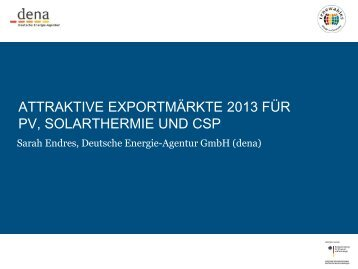 PDF: 1,4 MB - Exportinitiative Erneuerbare Energien