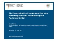 PDF: 2,4 MB - Exportinitiative Erneuerbare Energien - BMWi