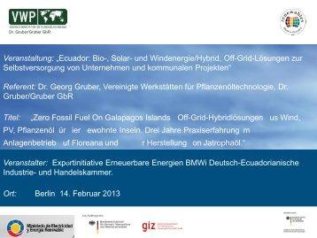 PDF: 2,5 MB - Exportinitiative Erneuerbare Energien - BMWi
