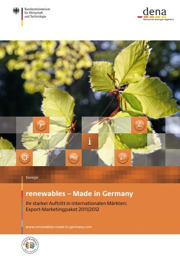 renewables – Made in Germany - Exportinitiative Erneuerbare ...