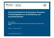 PDF: 1,1 MB - Exportinitiative Erneuerbare Energien - BMWi