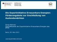 Die Exportinitiative Erneuerbare Energien - GIZ