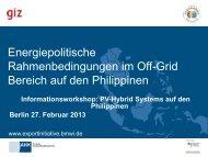 PDF: 516,4 KB - Exportinitiative Erneuerbare Energien - BMWi