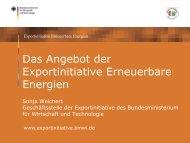 PDF: 1,60 MB - Exportinitiative Erneuerbare Energien - BMWi