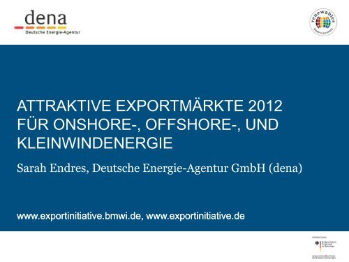 PDF: 831,5 KB - Exportinitiative Erneuerbare Energien - BMWi