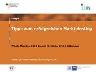 PDF: 854,7 KB - Exportinitiative Erneuerbare Energien