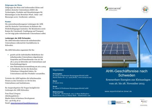 PDF: 13,6 MB - Exportinitiative Erneuerbare Energien - BMWi