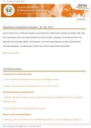Vollversion zum Ausdrucken (PDF) - Exportinitiative Erneuerbare ...