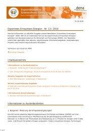 Vollversion zum Ausdruck (PDF) - Exportinitiative Erneuerbare ...