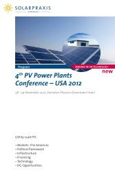 4th PV Power Plants Conference ? USA 2012