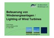 Befeuerung von Windenergieanlagen / Lighting of Wind Turbines