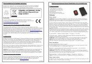 Bedienungsanleitung Funk-Zündschloss Typ As-0302-L0x - ASPLENT
