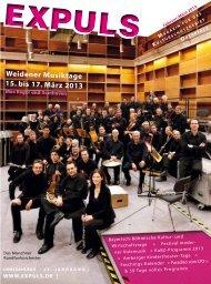 Weidener Musiktage 15. bis 17. März 2013 - Expuls