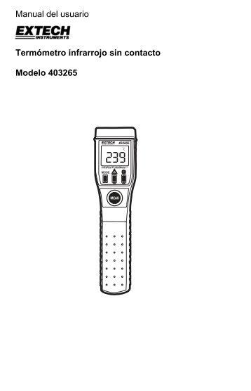 Manual del usuario Termómetro infrarrojo sin contacto Modelo 403265