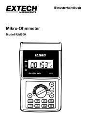 Mikro-Ohmmeter - Extech Instruments