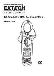 400Amp Echte RMS AC Stroomtang - Extech Instruments