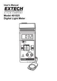 Model 401025 Digital Light Meter - Extech Instruments