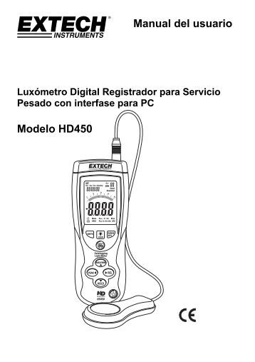 Manual del usuario Modelo HD450 - Extech Instruments