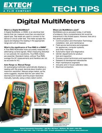 TECH TIPS - Extech Instruments