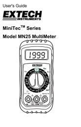 MiniTecTM Series Model MN25 MultiMeter - Extech Instruments