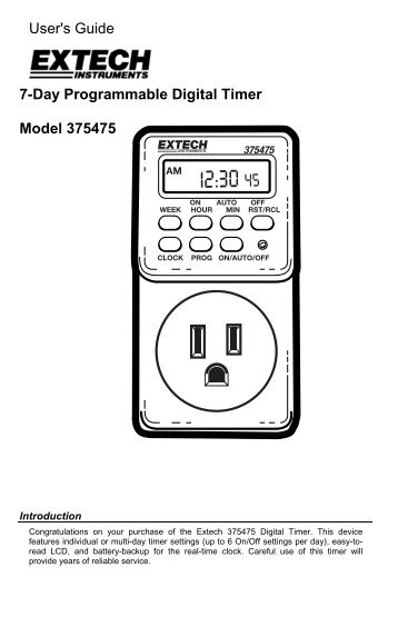 Model P4480 Kill A Watt Graphic Timer Operation Manual