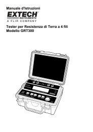 Manuale d'Istruzioni Tester per Resistenza di Terra a 4 fili Modello ...