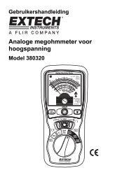 Analoge megohmmeter voor hoogspanning - Extech Instruments