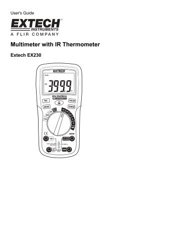 Multimeter with IR Thermometer - Extech Instruments