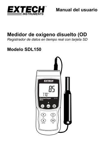 Medidor de oxígeno disuelto (OD - Extech Instruments