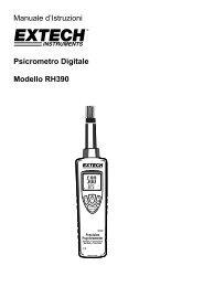 Manuale d'Istruzioni Psicrometro Digitale Modello RH390 - Extech ...