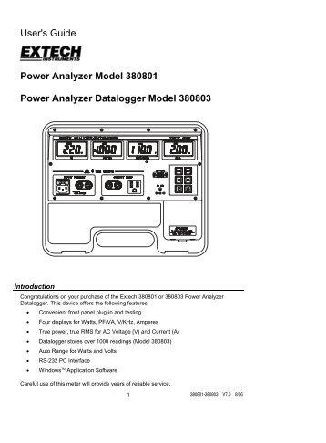EXTECH 380801 Manual - Extech Instruments