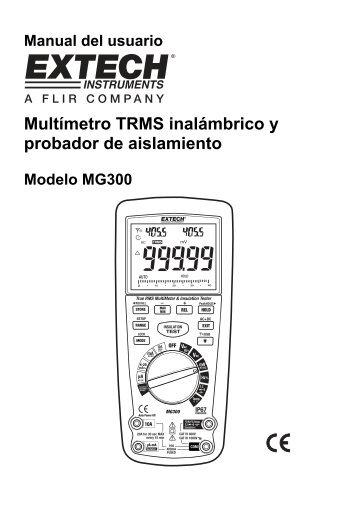 Multímetro TRMS inalámbrico y probador de aislamiento - Extech ...