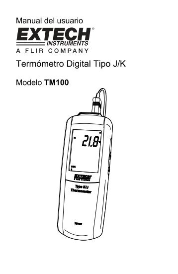 Termómetro Digital Tipo J/K - Extech Instruments