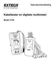 Kabeltester en digitale multimeter - Extech Instruments