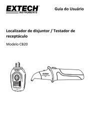 Guia do Usuário Localizador de disjuntor / Testador de receptáculo