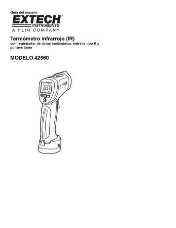 Termómetro infrarrojo (IR) MODELO 42560 - Extech Instruments