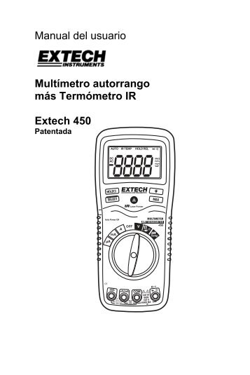 Manual del usuario Multímetro autorrango más Termómetro IR ...