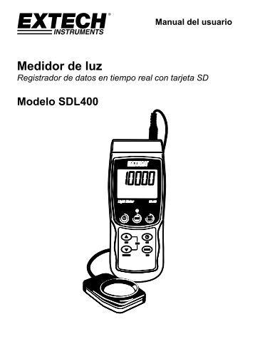 Manual del usuario Medidor de luz - Extech Instruments