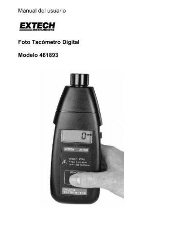 Manual del usuario Foto Tacómetro Digital Modelo 461893 - Extech ...