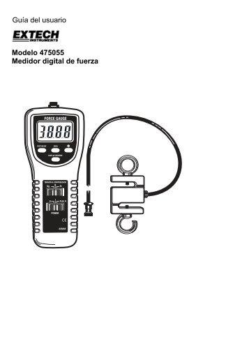 Guía del usuario Modelo 475055 Medidor digital de fuerza - Extech ...