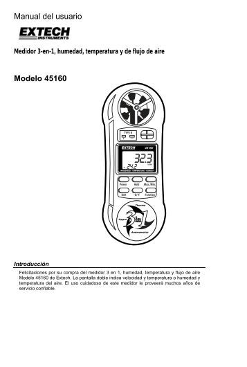 Manual del usuario Modelo 45160 - Extech Instruments
