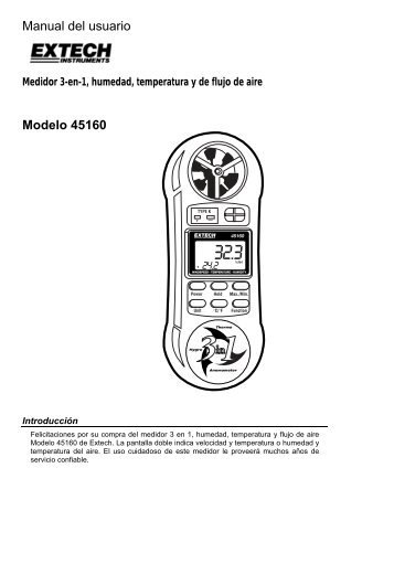 Manual del usuario Modelo 45160 - Extech Instruments
