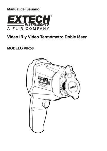 Video IR y Video Termómetro Doble láser - Extech Instruments
