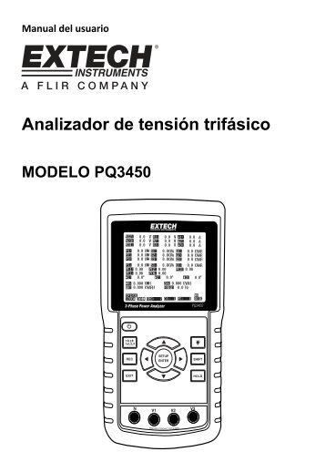Analizador de tensión trifásico - Extech Instruments