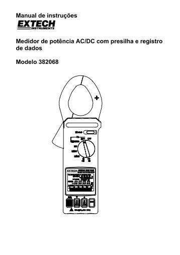Manual de instruções Medidor de potência AC/DC com presilha e ...